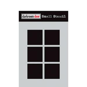 Darkroom door Small Stencil -Boxes 6 up