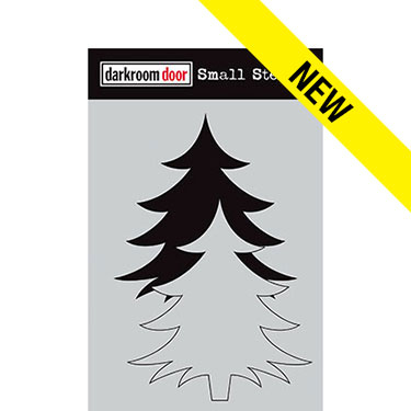 Darkroom door Small Stencil - Christmas Tree Set