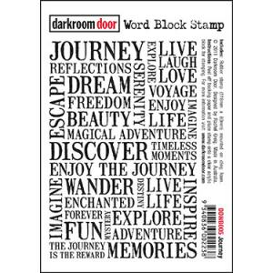 Darkroom door Word Block Stamp -Journey