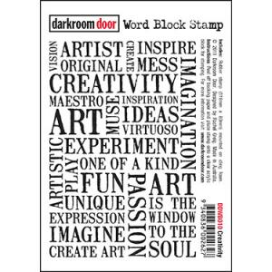 Darkroom door Word Block Stamp -Creativity