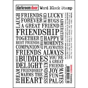 Darkroom door Word Block Stamp -Friendship