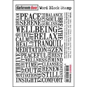 Darkroom door Word Block Stamp -Wellbeing