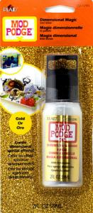Dimensional Magic-golden glitter