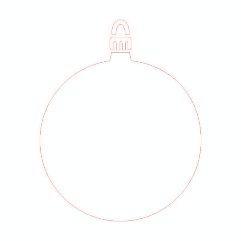Card-io stencil Round Bauble