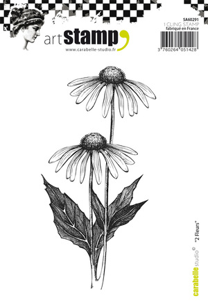 Art stamp-2 Fleurs
