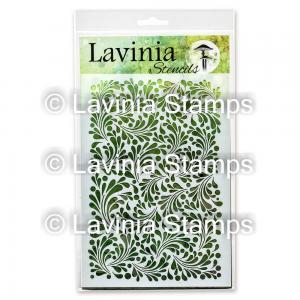 Lavinia Stencil Feather Leaf