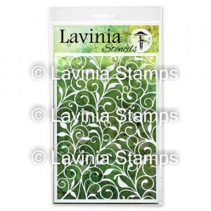 Lavinia Stencil Leaf Trails