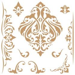 Stencil-Medium- Damask 084