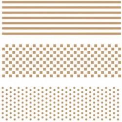 Stencil-Large-Stripes, Dots, Squares