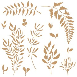 Stencil-Medium- Leaves