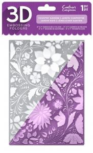 Crafters Companion 3D embossing folders- Country garden