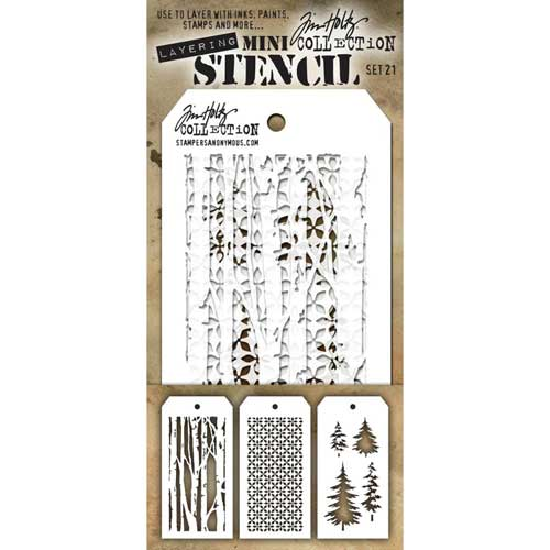 Tim Holtz Mini stencil set 21
