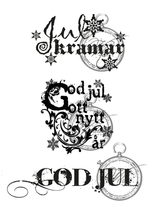 Julkramar, God jul och gott nytt år, God jul.