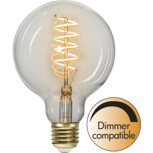 LED-Lampa E27 G95 Decoled Spiral Clear