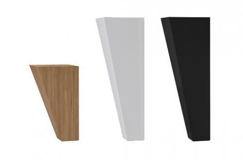 Svängt Träben 12cm ingår. Välj Vit, Svart eller Oljad Ek