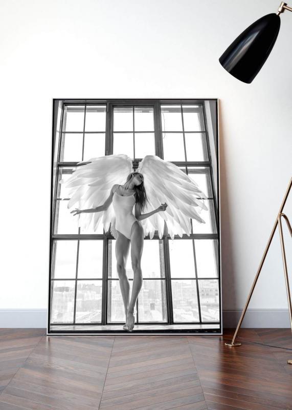 Poster Angel Woman in Window