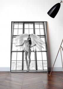 Poster Angel Woman in Window