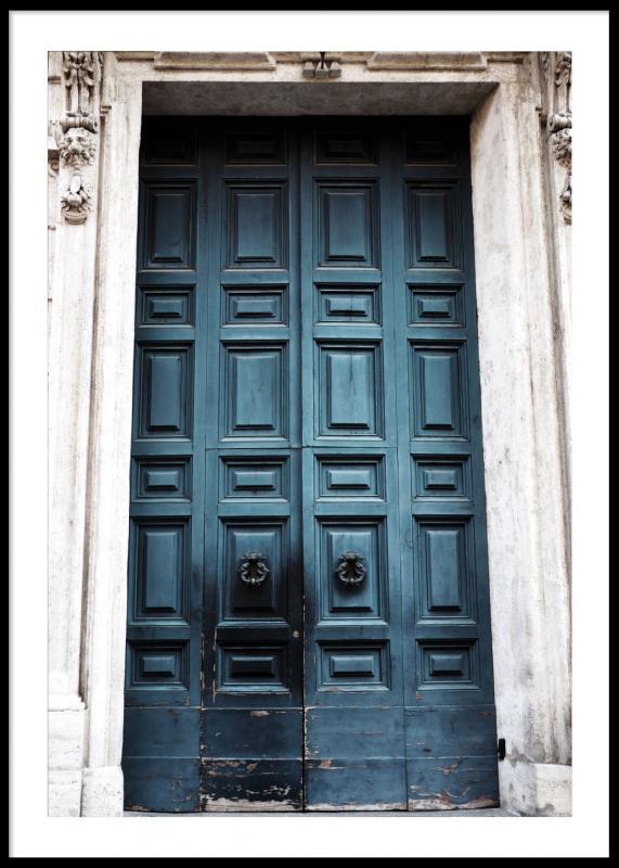 Poster Blue Door