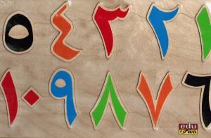 Färgade Siffror I Trä Utan Bilder لوحة ارقام ملونة خشبية تركيبية بدون صور