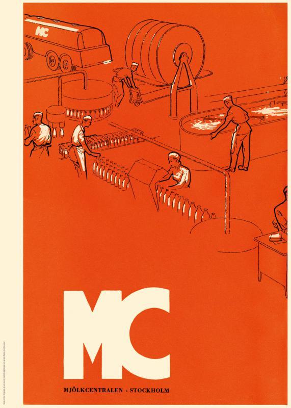 Affisch Mjölkcentralen