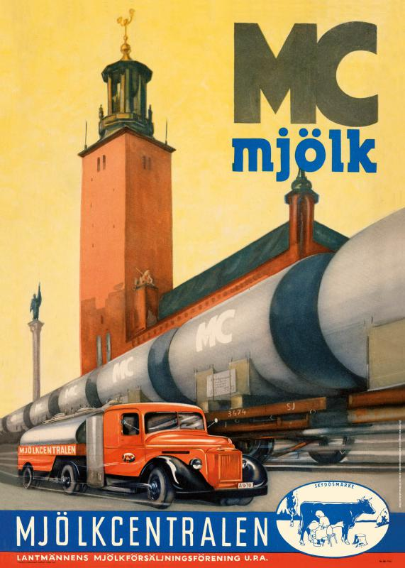 Affisch Mjölkcentralen 1941