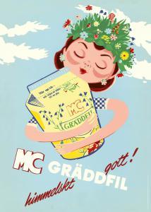 Affisch Mjölkcentralen gräddfil