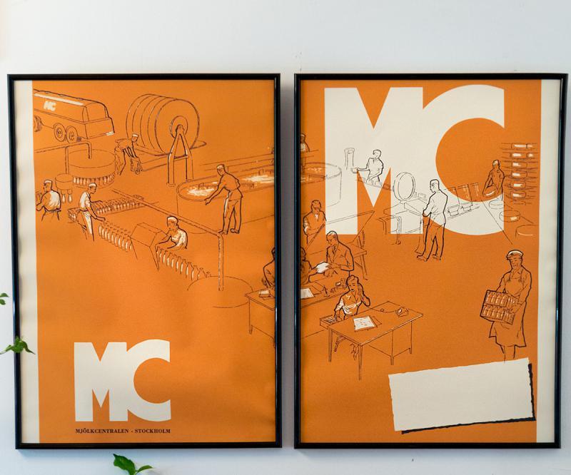 Affisch 2-pack Mjölkcentralen