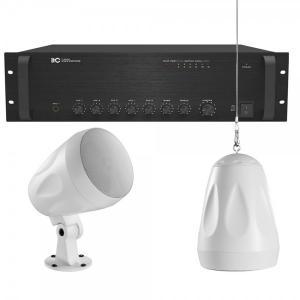 Ljudpaket - Butik / Bakgrundsmusik: TI-550 + 10st högtalare