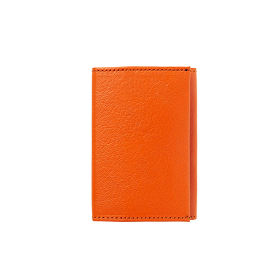 LEATHER WALLET, orange