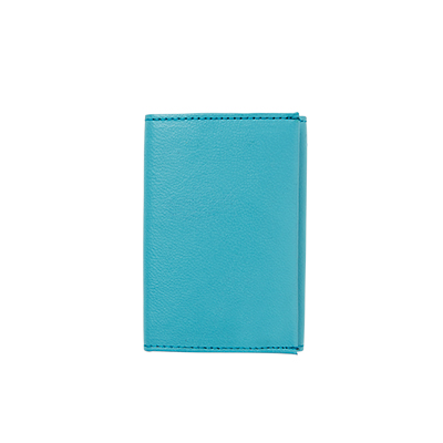 LEATHER WALLET, turquoise