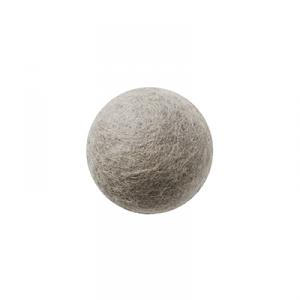 Grey wool ball wall hanger
