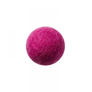 Cerise wool ball wall hanger