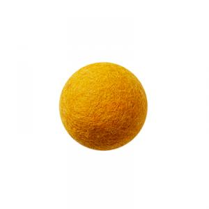 Orange wool ball wall hanger