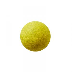 Lime wool ball wall hanger