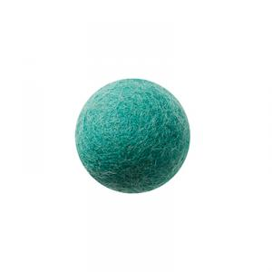 Teal wool ball wall hanger