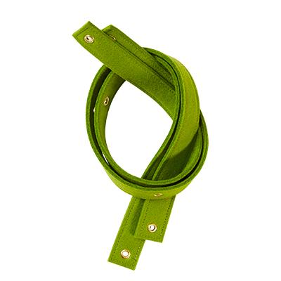 Strap for shelf - 100% wool - green