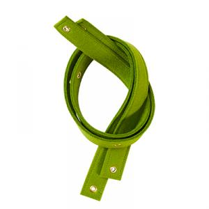 Rem till vägghylla - 100% ull -  grön