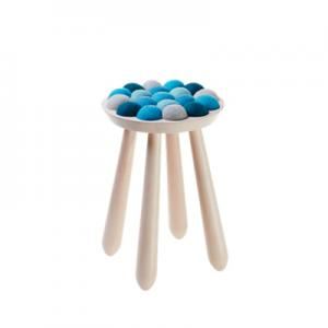 WOW STOOL, nature-blue
