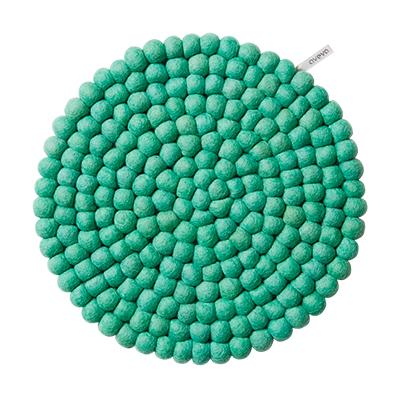 Seat cushion - 100% wool - blue/green/pistache