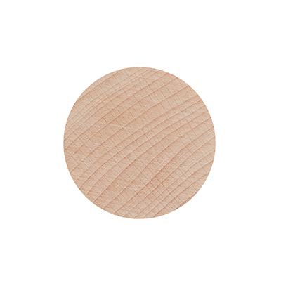 Round wall hanger in untreated beech - size M