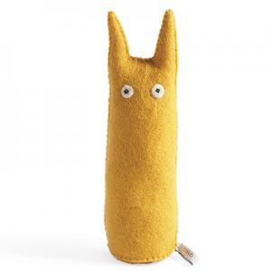 Cat made in wool - ochre.