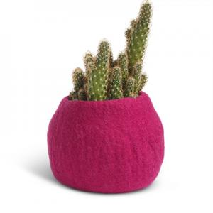 FLOWER POT, M, fuchsia
