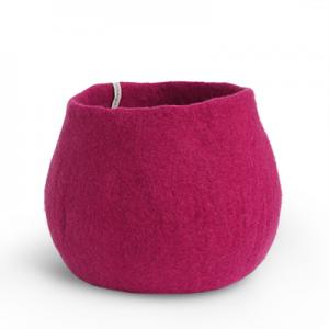 FLOWER POT, L, fuchsia