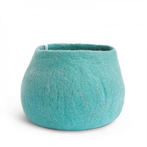 FLOWER POT, L, iceblue