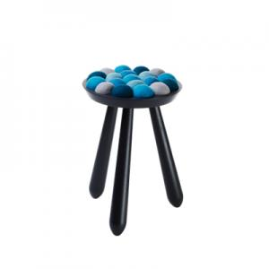 WOW STOOL,  black-blue