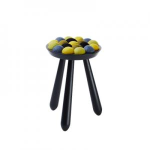 WOW STOOL,  black-lemonade