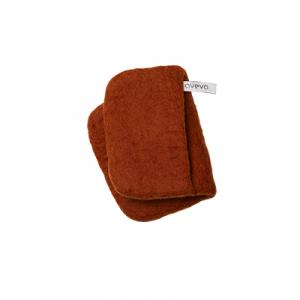 Handmade potholder made of 100% wool - Rust red.