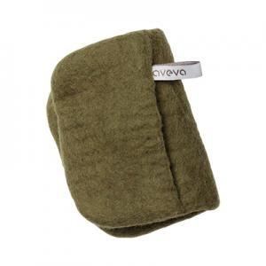 Handmade potholder made of 100% wool - Olive