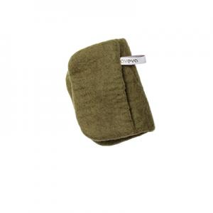 Handmade potholder made of 100% wool - Olive green.