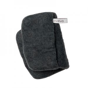 Handmade potholder made of 100% wool - Dark grey